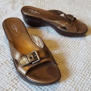 Cole Haan Nike Air Sole Kitten Heel Sandals Sz. 7